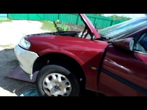 Снимаем стартер без ямы и подъемника, с домкрата Opel vektra b 1 6 100л с