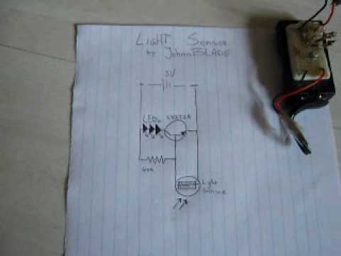 Simple Light Sensor Circuit - Leds on by night off by day (tree of light) JB