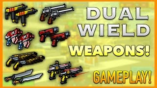 getlinkyoutube.com-Pixel Gun 3D - Dual Wield Weapon Gameplay!