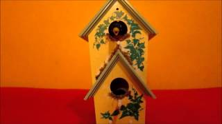 getlinkyoutube.com-Gemmy - Animated Birdhouse: Singing Robins
