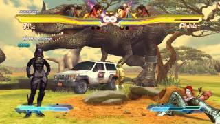 getlinkyoutube.com-Street Fighter X Tekken PC - Tali' Zorah (mass effect) - Chun li Christie outfit