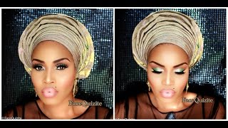 getlinkyoutube.com-Get Ready with Me GRWM Makeup and Gele for Nigerian Party