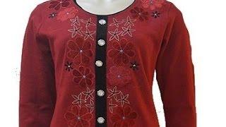 getlinkyoutube.com-kurti neck design cutting and stitching | easy  neck design cutting and stitching for beginners