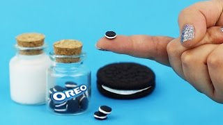 getlinkyoutube.com-MINIATURE OREO COOKIES ♥ DIY Milk & Cookie Jars