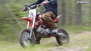 getlinkyoutube.com-Stomp KZR 140 Pitbike Ride