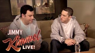 Briefcase Joe: Eminem Teaches Jimmy Kimmel to Rap width=