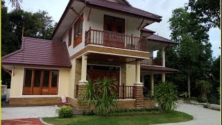 แบบบ้านสองชั้นไทยประยุกต์บ้านป่าตาล BP06