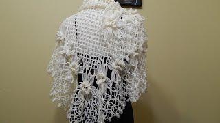getlinkyoutube.com-Flor # 13 para Chal con Flores Crochet
