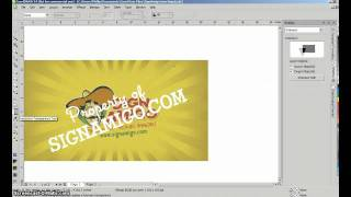 getlinkyoutube.com-Sign Design Tutorial - Watermark in Corel Draw