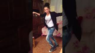 Beautiful girl dancing on parsi song