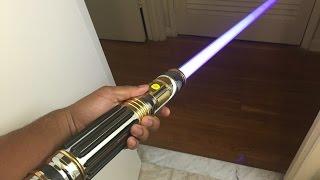getlinkyoutube.com-Mace Windu Master Replica Force Fx lightsaber review
