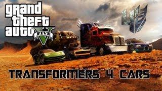 getlinkyoutube.com-Grand Theft Auto V - Transformers 4 Cars