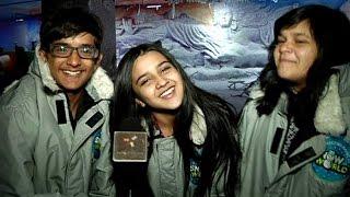 getlinkyoutube.com-Roshni, Saloni and Bhavesh Celebrate Christmas At Snow World