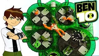 getlinkyoutube.com-Ben 10 Buildable Alien Heroes Ultimate Alien Creation Chamber Toys Review