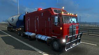 getlinkyoutube.com-Euro Truck Simulator 2. Мод: Kenworth K100 LONG FRAME. (Ссылка в описании)