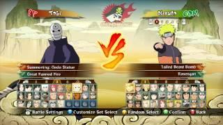 getlinkyoutube.com-Naruto Shippuden: Ultimate Ninja Storm Revolution Full Character Roster (+Costumes)