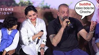 Sanjay Dutt's FUNNY Reaction When Reporter Calls Him OLD In Front Of Wife Manyata@Baba Trailer L.