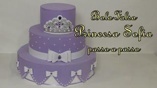 getlinkyoutube.com-Bolo Falso Princesa Sofia passo a passo