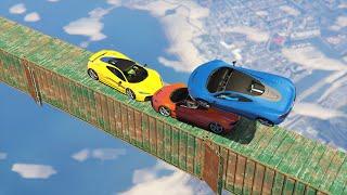 getlinkyoutube.com-SKY HIGH CAR GAMES! (GTA 5 Funny Moments)
