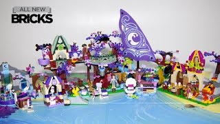 getlinkyoutube.com-Lego Elves 41075 Treetop Hideaway with Bakery - Ship - Spa - Workshop Speed Build