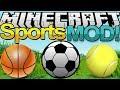 Minecraft Mod Showcase: SPORTS MOD ! (Football / Soccer,Baseball,Tennis in Minecraft ?)