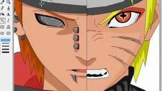 getlinkyoutube.com-[MS Paint] Naruto and Pain