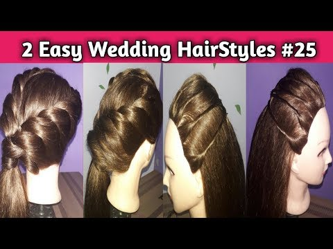 Download Thumbnail For 2 Easy Hairstyles For Wedding Or Garba