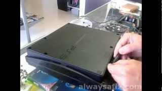 getlinkyoutube.com-PS3 Slim not reading disk Laser replacement