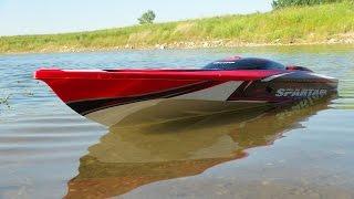 getlinkyoutube.com-RC ADVENTURES - Traxxas Spartan 4s Lipo vs 6s Lipo - Radio Control Speed Boat