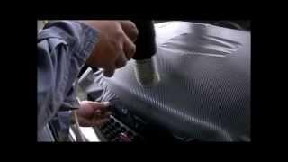 3Mダイノックカーボンシートを剥がしてアストロ製のカーボンシートに貼り替え