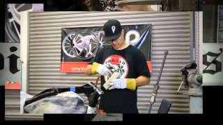 getlinkyoutube.com-Rake A Motorcycle Neck - Modify Rake & Trail on Harley Baggers