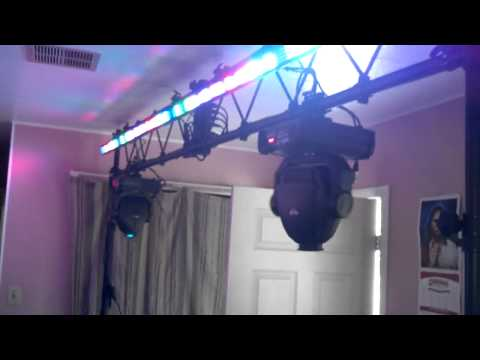 My dj lights set up