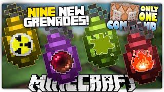getlinkyoutube.com-Minecraft 1.9 | GRENADES | Anti-Gravity, Smoke Bombs, Nukes & More! | Custom Command