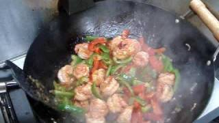 getlinkyoutube.com-Chinese Spicy Shrimp Stir Fry Recipe