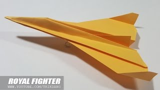 getlinkyoutube.com-Best Paper Planes : How to make a paper airplane that Flies | Royal StarFighter