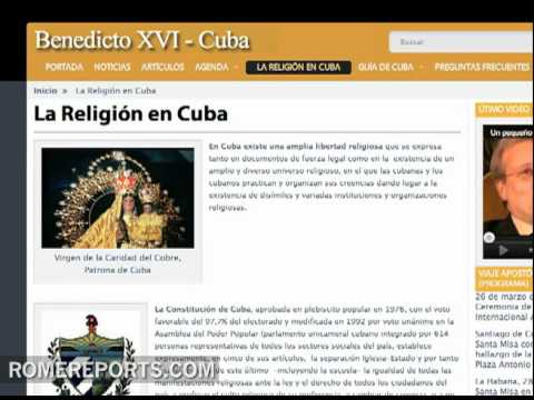 Cuba lanza web oficial para visita del Papa