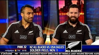 getlinkyoutube.com-New Zealand All Blacks invade Soldier Field for match with USA Eagles