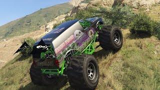 getlinkyoutube.com-GTA 5 PC Mods Grave Digger Monster Truck Offroad