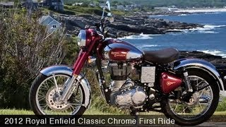 getlinkyoutube.com-MotoUSA First Ride: 2012 Royal Enfield Classic Chrome