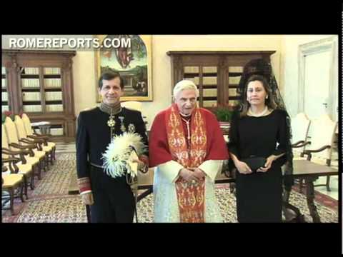Benedict XVI receives new Ambassador of Spain to the Vatican