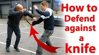 how to defend against a knife