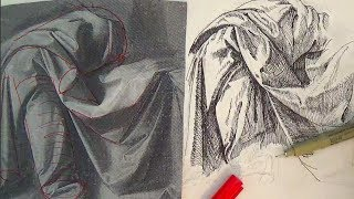 getlinkyoutube.com-Pen and Ink Drawing Tutorials | How to draw drapery like Leonardo da Vinci