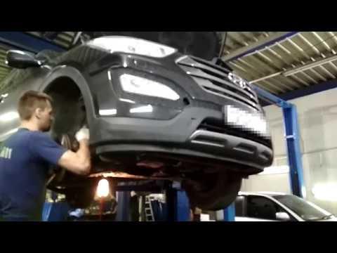 Hyundai Santa FE 3 Замена сальников акпп (со снятием ркпп).