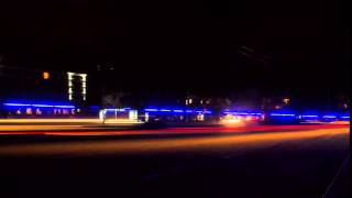 Night traffic timelapse. Free HD stock footage.