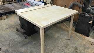 getlinkyoutube.com-Folding Outfeed Table For Table Saw