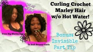 getlinkyoutube.com-Curling  Crochet Marley Hair W/O Hot Water