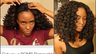 Tutorial:NO crochet braids needed, Get you a BOMB Removable, Super Natural, NO HEAT,  hairstyle