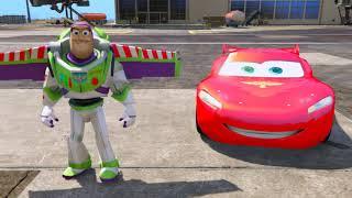 getlinkyoutube.com-Lightning McQueen 2.0 from Cars 2 and Buzz Lightyear - Mods For GTA 5