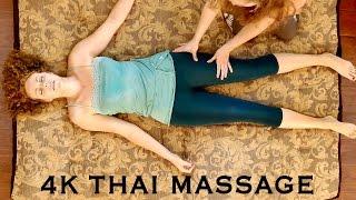 getlinkyoutube.com-4K Massage Therapy: Relaxing Full Body Thai Massage Part 2: Legs | ASMR Soft Spoken with Music