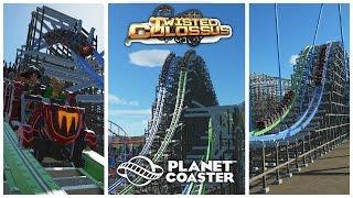 getlinkyoutube.com-Planet Coaster: Twisted Colossus - Six Flags Magic Mountain (Recreation)